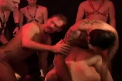 Dungeon bunch group-sex