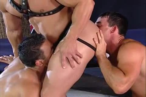 Leather three-some