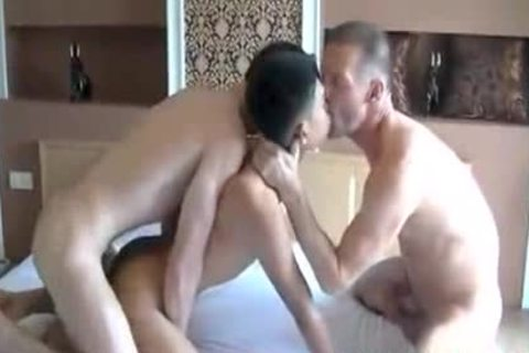asian White unprotected threesome