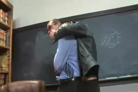 Straight Proffessor receives Edged And sex toy plowed In The Classroom