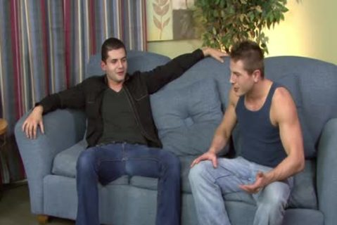 brunette homosexual Gives irrumation-job In POV Style