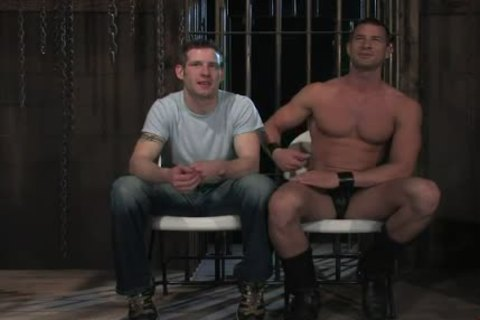 manacled In Wood gay arsehole Rougly plowed