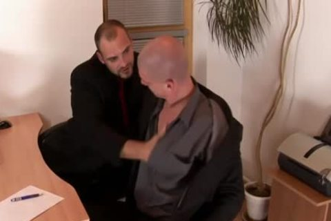 Muscly bare Office goo
