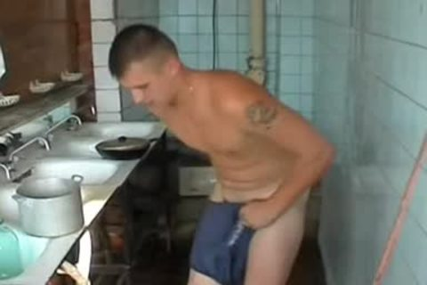 naked Russian Soldier In A Gym