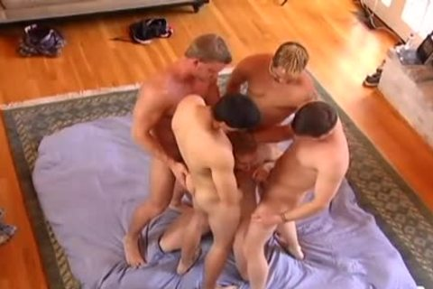 4 guy Bulls bunch Up On A twink Calf