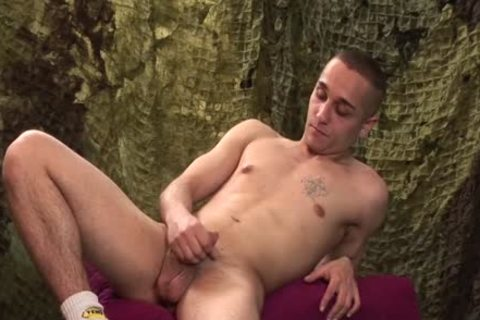 wicked dude Likes To jerk off His penis Softly