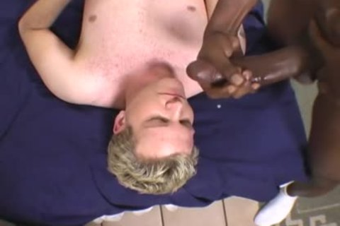 blonde lad Does Terrible oral sex On A BBC