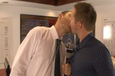 fine homosexuals take up with the tongue And Hump asses In The Office
