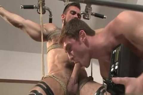 monstrous 10-Pounder gay bound With Facial