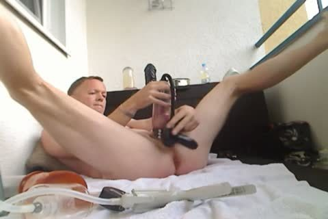 Pumping My penis And anal, fake penis fuck