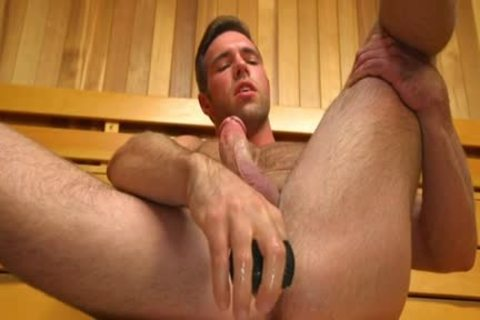 Muscle gay sex dildo And cream flow