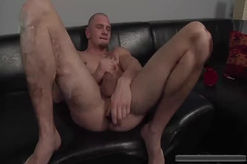 naughty stud Jerks Off With dildos