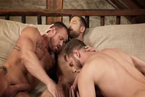muscular trio bareback And Creampie