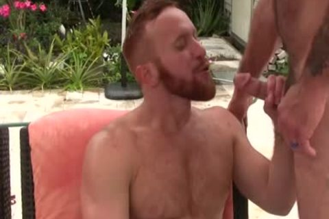 excited hirsute daddy fucks Ginger Sun - cum cum cum