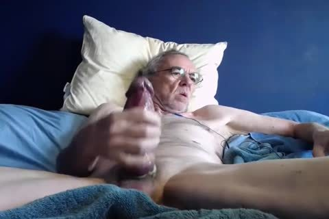 grand-dad jack off On cam