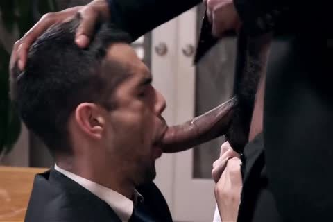 Giving Your black Boss A fellatio-stimulation And Getting Barebacked