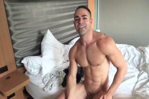 Muscle gay oral With goo flow