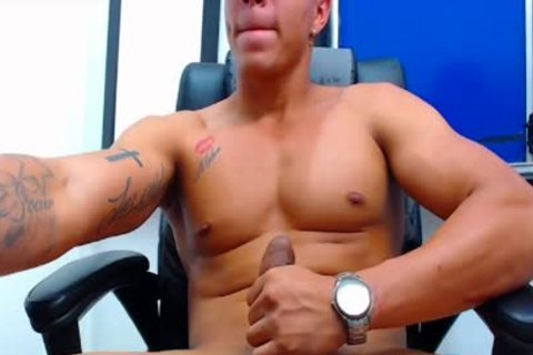 Flirt4Free Latino stud discharges A Load From His Monster penis