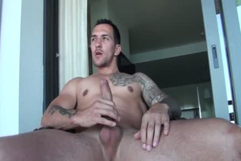 Straight Hunk Cums For Stupid Girlfriend