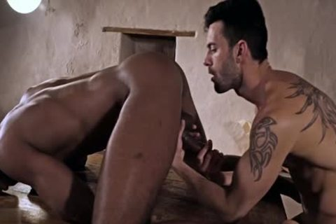 Tattoo gay anal-copulation And goo flow