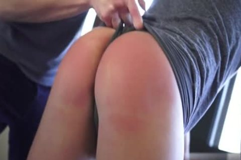 beautiful twinks spanking With drink