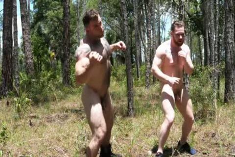 2 Swinging cocks In The Woods