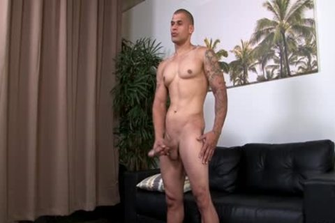 Hung pumped up Hunk Stroking His throbbing Uncut rod