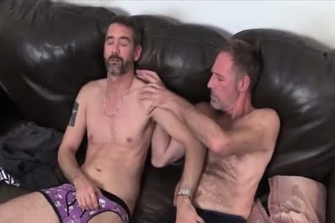 Two Dads slamming On The couch plowed