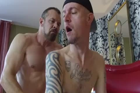 Robert Rexton get's slammed By Muscle Daddy's Max Sargent & Chance Caldwell