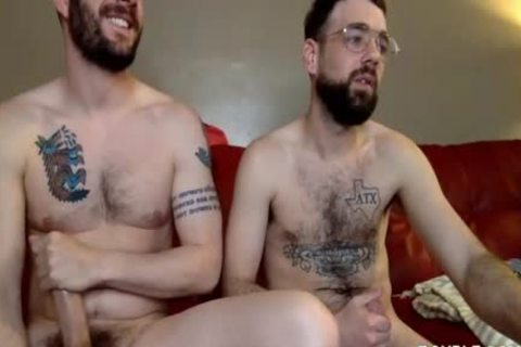 Two homosexual dudes Have Steamy Sex On The Red Sofa
