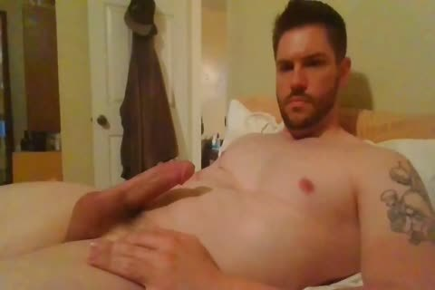 Hunk Jerking His overweight penis