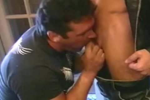 10-Pounder Loving Biker men acquire rough In pound orgy