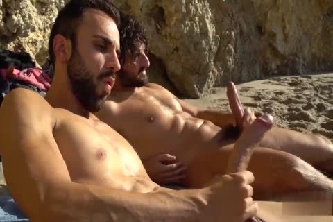 enormous dicks stroking AT THE BEACH