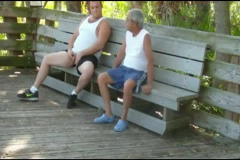 outdoors Scenes Where old man Sucks & receives fucked By chubby