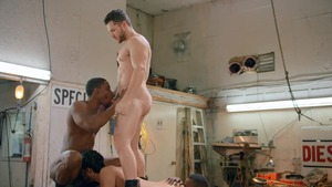 Tom Of Finland: Service Station: bareback - Ricky Roman and River Wilson American dril