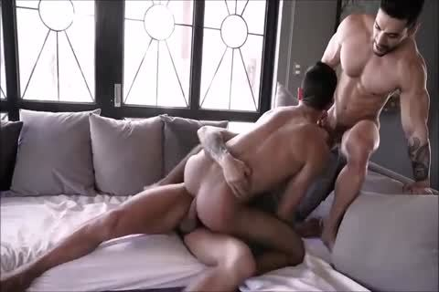 delightsome Spanish bareback Three-some With Daddies And delightsome Hunky Son