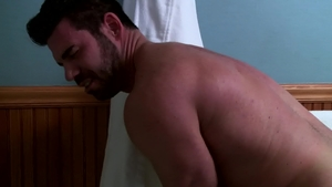IconMale - Hairy and athletic Billy Santoro anal fucks