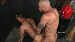 Extra Big Dicks: Tony Orion & Jessie Colter kissing each other