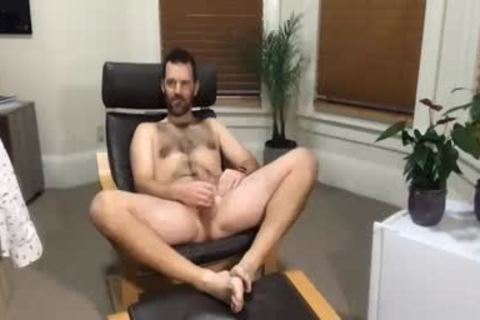 daddy chap Masturbating His weenie In Live