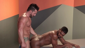 Raging Stallion - Inked Jimmy Durano smashed by huge penis XL